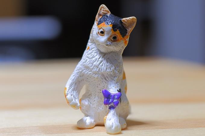 子猫物語の猫のフィギュア