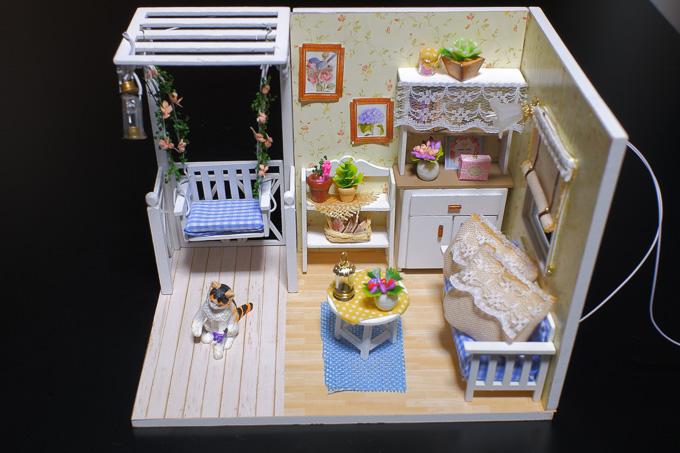 ドールハウス「子猫物語」の完成写真2