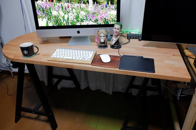 Ikea製PCデスクの脚を架台「ODDVALD」に交換してみた