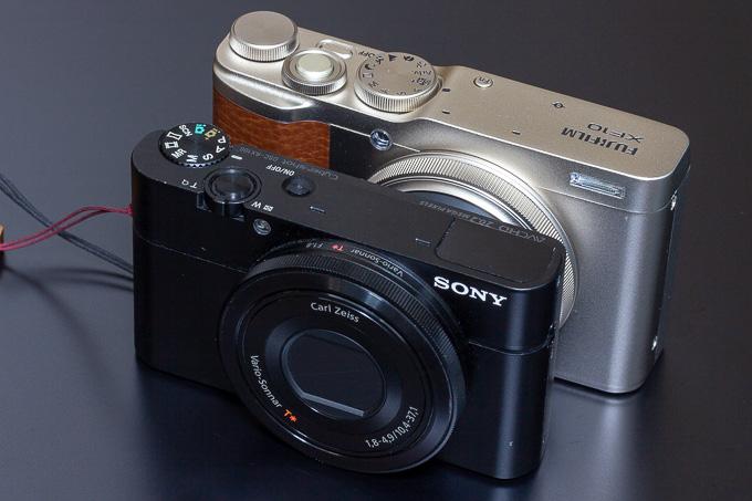 初代RX100とXF10のサイズ比較