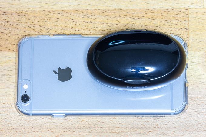 iPhone6sとEnacFireの収納ケースサイズ比
