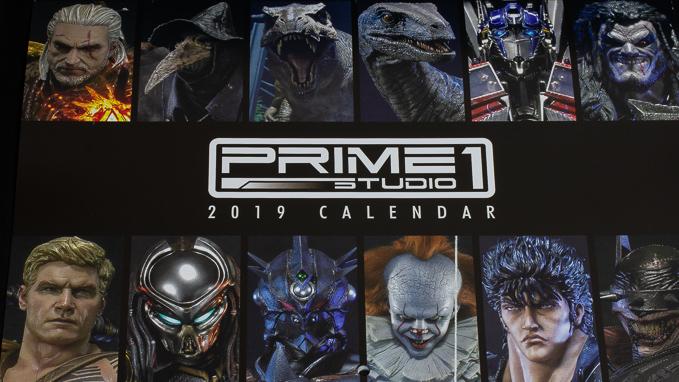 プライム1スタジオから2019年非売品カレンダーが来たぁーーー!