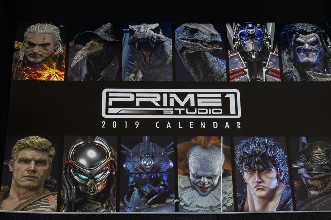 プライム1スタジオの2019年度版カレンダー