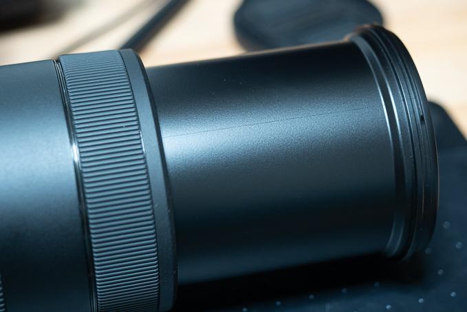 EF70-300mm F4-5.6 IS II USMのパーティングライン