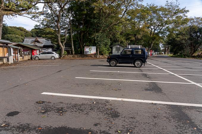 酒列磯前神社の駐車場