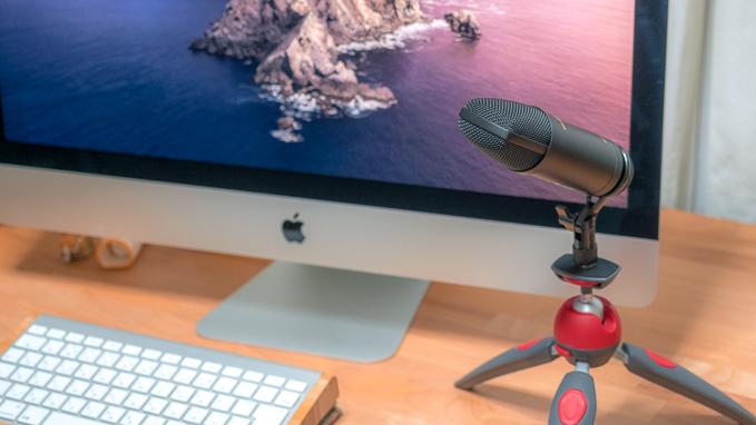 USBマイクを変換ネジ使用でPIXI等のカメラ用卓上三脚に設置する方法