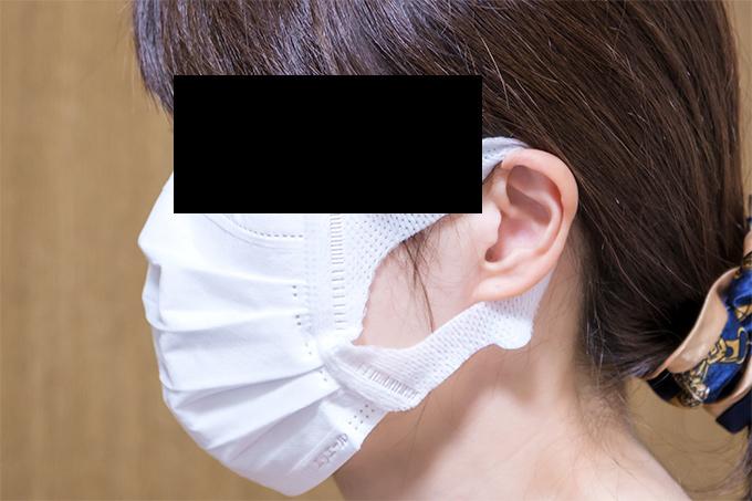 不織布マスク着用例
