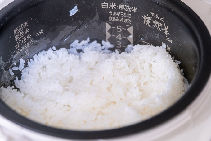 NJ-XS108Jで炊いたお米