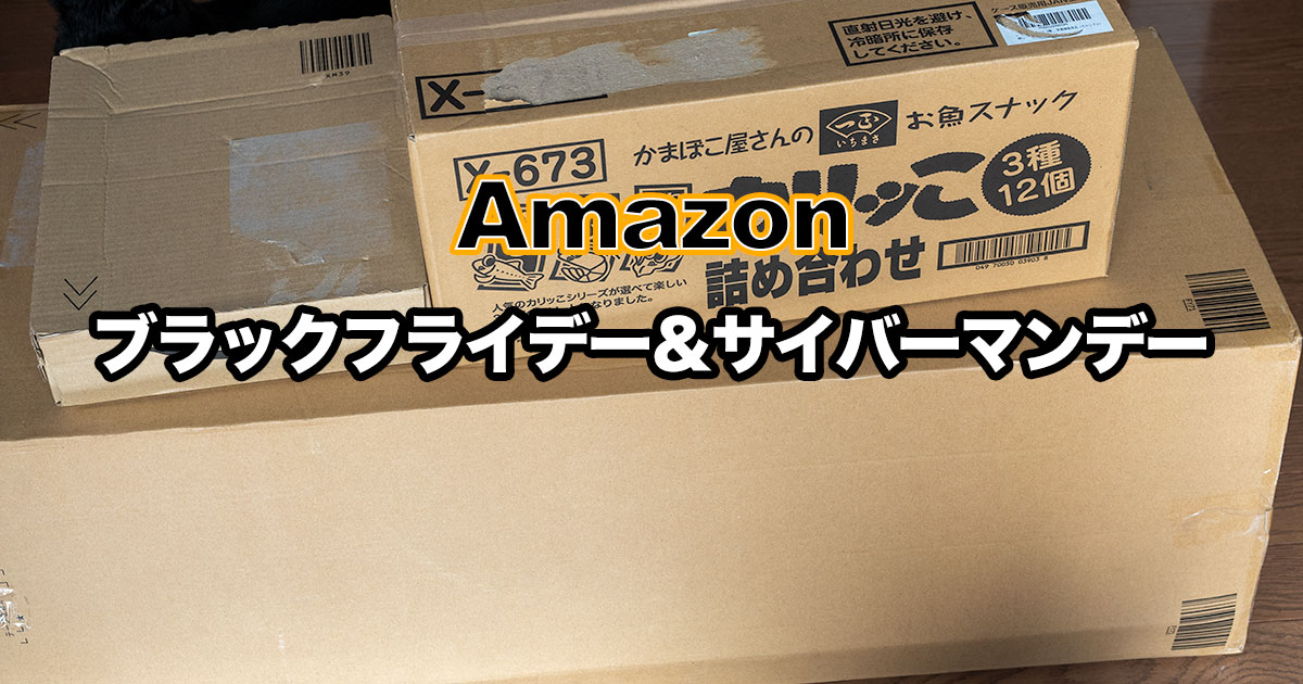 【2020年度版】Amazonのブラックフライデー&サイバーマンデーで購入した物