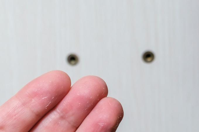 UTS-W75の板に付着していた木粉