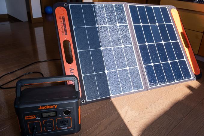 ポータブル電源とSolarSaga60の使用方法