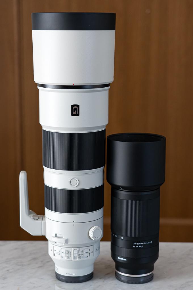ソニー200-600mmとタムロン70-300mm