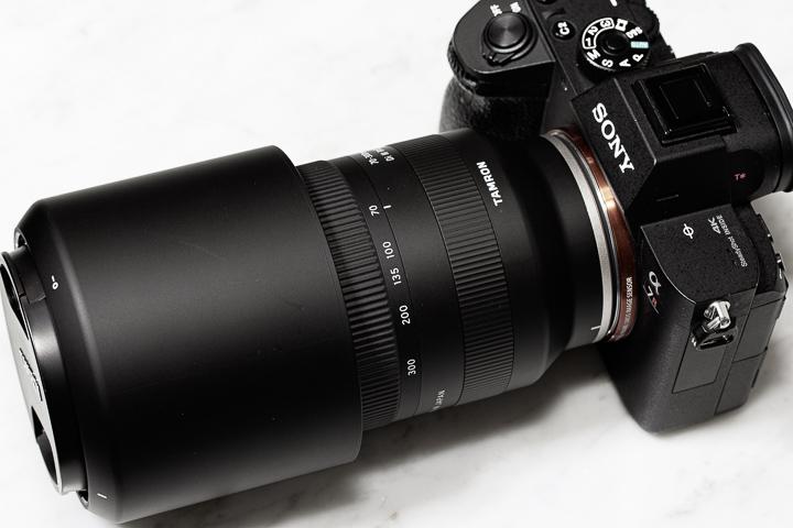 私物のタムロン「70-300mm F/4.5-6.3 Di III RXD」