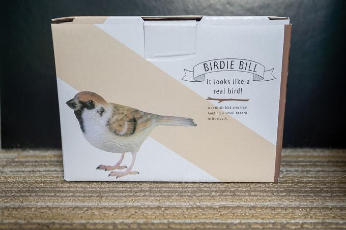 BIRDIE BILL 雀オブジェのパッケージング
